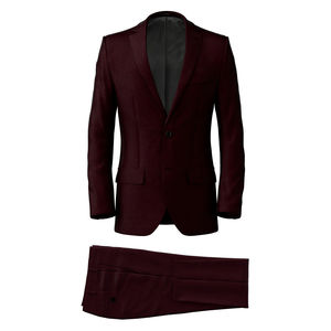 Suit Burgundy Wool
