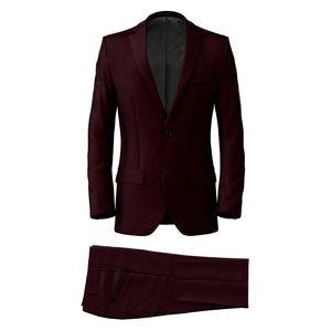 Anzug Burgundy Wolle