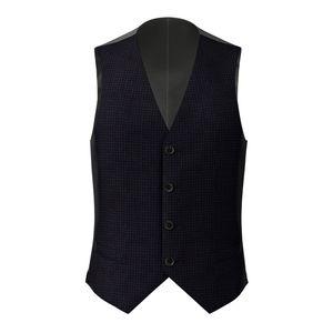 Waistcoat Blue Check Design