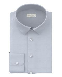 Shirt Light Blue Oxford Dots