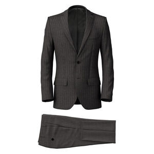 Suit London Grey Pinstripe