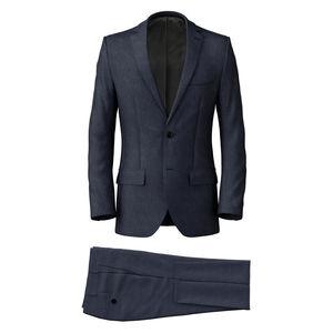 Costume Bleu Acier