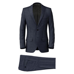 Anzug Stahlblau