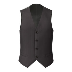 Vest Super 160's Grey Herringbone