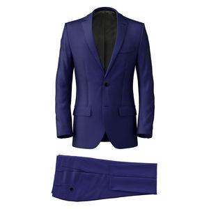 Anzug Leuchtendblau