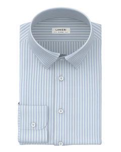 Camicia Azzurro Cielo Rigato Oxford
