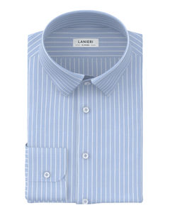 Shirt Light Blue Micro Stripe