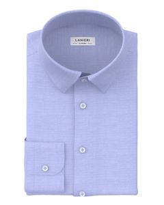 Hemd Icon Azurblau Oxford Baumwolle