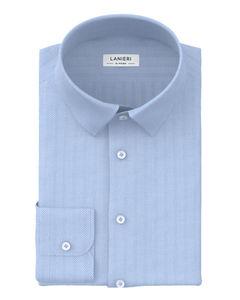 Shirt Light Blue Herringbone
