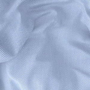 Shirt Light Blue Herringbone