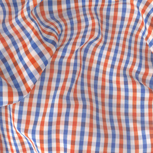 Shirt Orange Blue Check