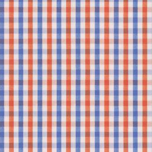 Hemd Orange Blau Karo-Dessin