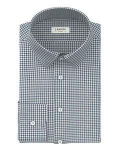 Shirt Green Blue Check