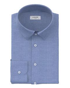 Shirt Light Blue Denim Zephyr Cotton
