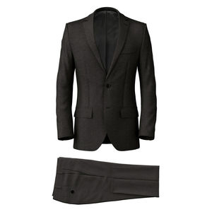 Suit Charcoal Grey Sharkskin