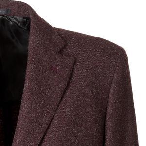 Cappotto Bordeaux Melange Lana