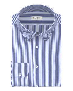 Camicia Blu Rigato