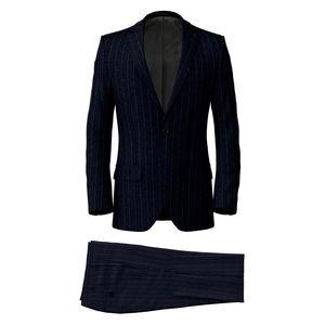 Suit Dublin Blue Pinstripe