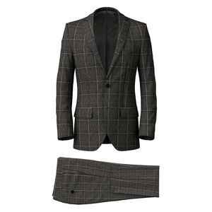 Suit Grey Melange Overchek