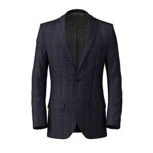 Jacket Blue Hopsack Check