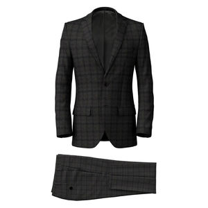 Suit Grey Flannel Check