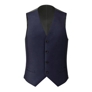 Gilet Super 160's Bleu Royal