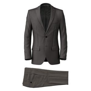 Suit Smoke Grey Pinstripe
