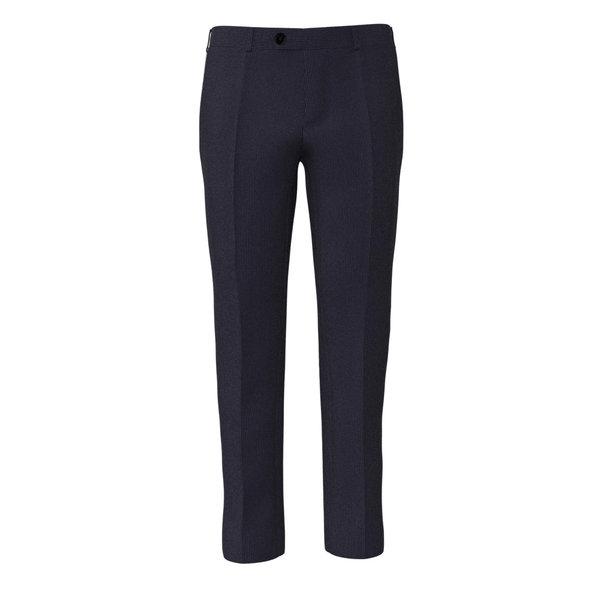Pantalone Reda Quattro Stagioni Rigato Blu Scuro