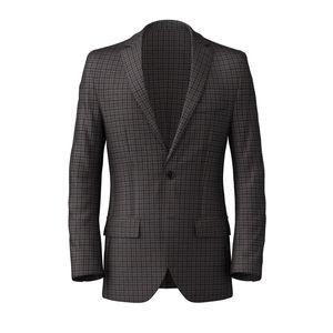 Blazer Brown Micro Check Wool