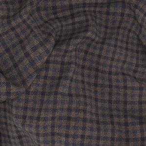 Pantalon Marron À Micro-carreaux Laine