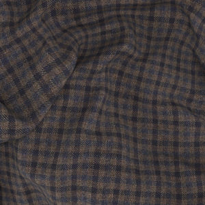 Jacket Brown Micro Check Wool