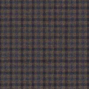 Pants Brown Micro Check Wool