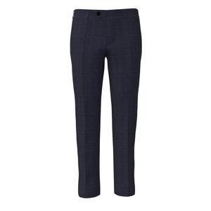 Trousers Melange Blue Check