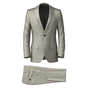 Anzug Ivory Microdesign Wolle Seide