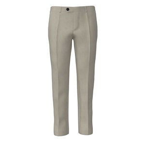 Trousers Ivory Microdesign Wool Silk