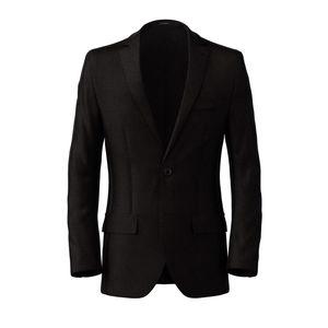 Blazer Black Microdesign Wool Silk