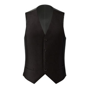 Vest Black Microdesign Wool Silk