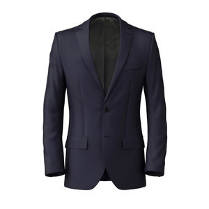 Jacket Dark Navy Blue Wool Silk