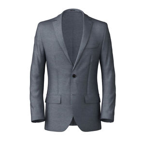 Blazer Steel Blue Wool Silk