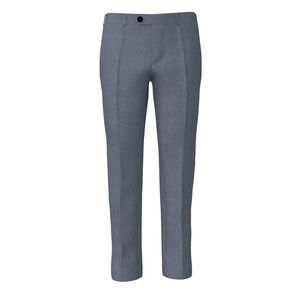 Trousers Steel Blue Wool Silk