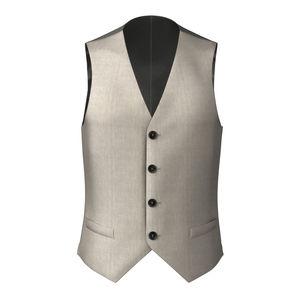 Waistcoat Ivory Wool Silk