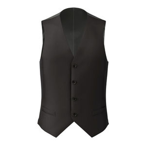 Vest Black Wool