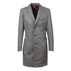 Coat Grey Double Herringbone