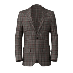 Blazer Grey Purple Check
