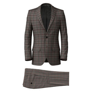Suit Grey Purple Check