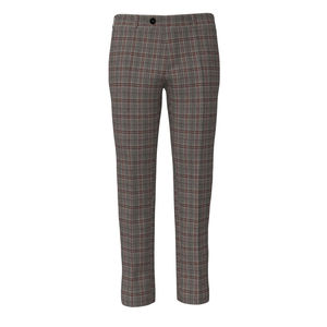 Trousers Grey Purple Check