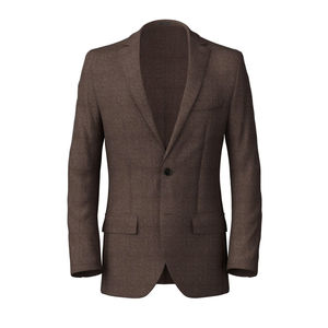 Blazer Denim Brown Cotton