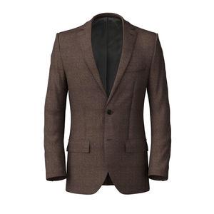 Jacket Denim Brown Cotton
