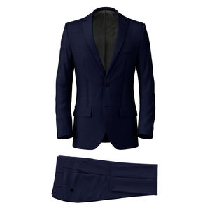 Costume Bleu Marine 150's À Armature