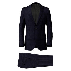 Suit Navy Blue Melange